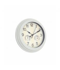 Reloj de pared estaciones tiempo blanco