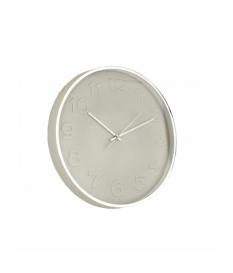 Reloj de pared dorado / blanco pvc
