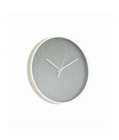 Reloj de pared plateado/gris pvc