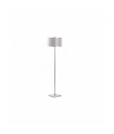 Lámpara de pie metal dorada-blanca