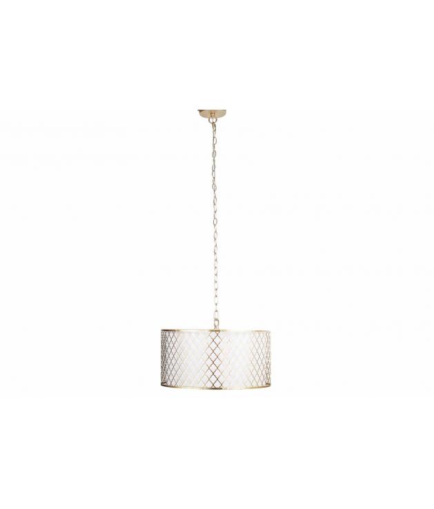 Lámpara de techo metal dorada-blanca