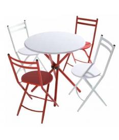 Conjunto mesa y cuatro sillas Laia