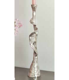 Candelabro abstracto alum. 44 cms.
