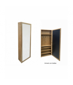 Espejo organizador c/baldas 60x20x180 cms.