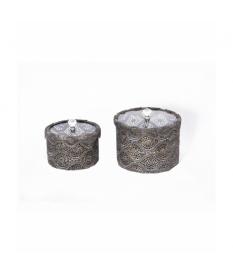 Caja metal t/cristal 20d. cms. s/2