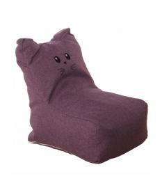 Puff blando gato violeta poliéster