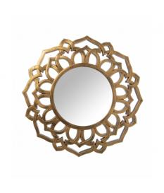 Espejo resina dorado 60 cm