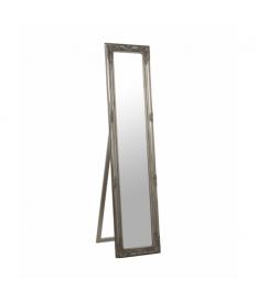 Espejo de pie madera plateado