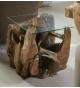 Mesa de rincón raíz teka maciza