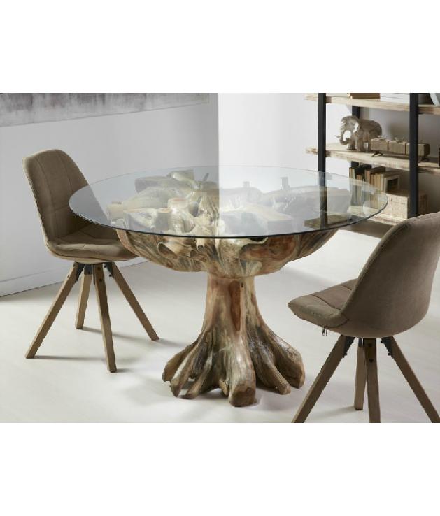 Comprar mesa de comedor de ra z de teka maciza for Mesas de comedor rectangulares