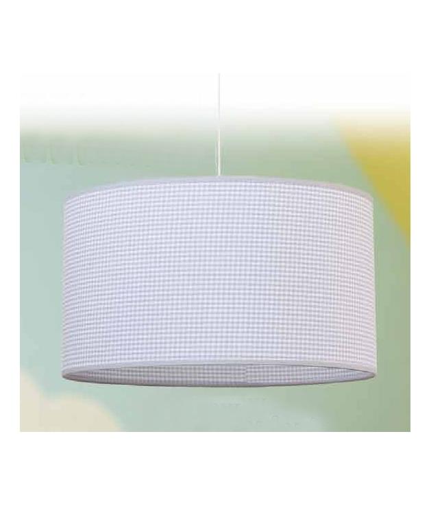 Lámpara de techo juvenil Vichy cilíndrica