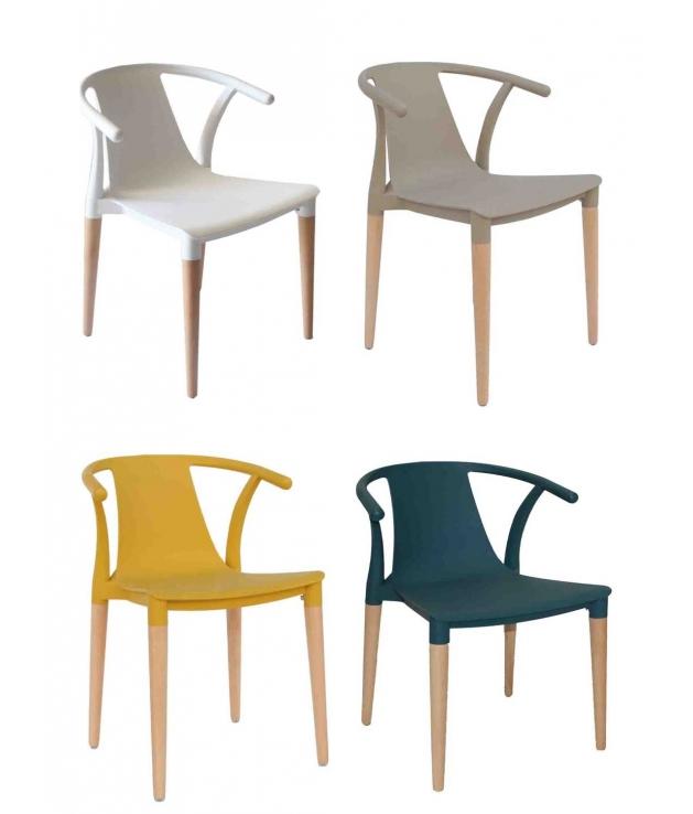 comprar silla 666 dise o moderno en madera y poliester