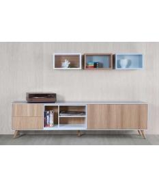 Mueble TV Nordic 205 cm con patas y contenedor
