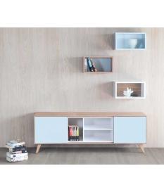 Mueble TV Nordic 160 cm con patas y contenedor