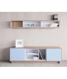 Mueble TV Nordic 160 cm con zócalo y contenedor