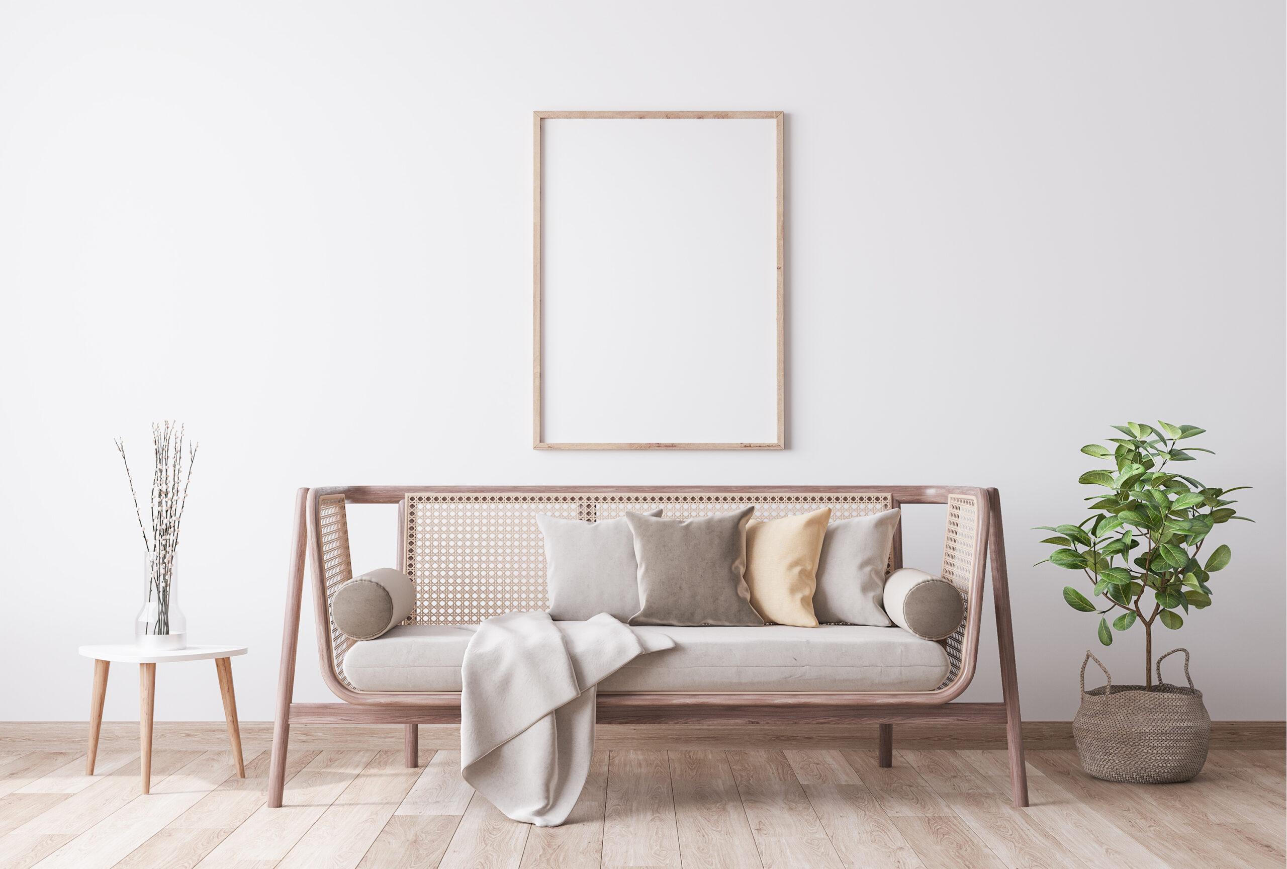 Decoración con cuadros perfecta para la pared del sofá